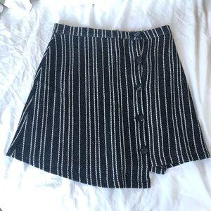 NWT Pinstripe Asymmetrical Button Up Skirt